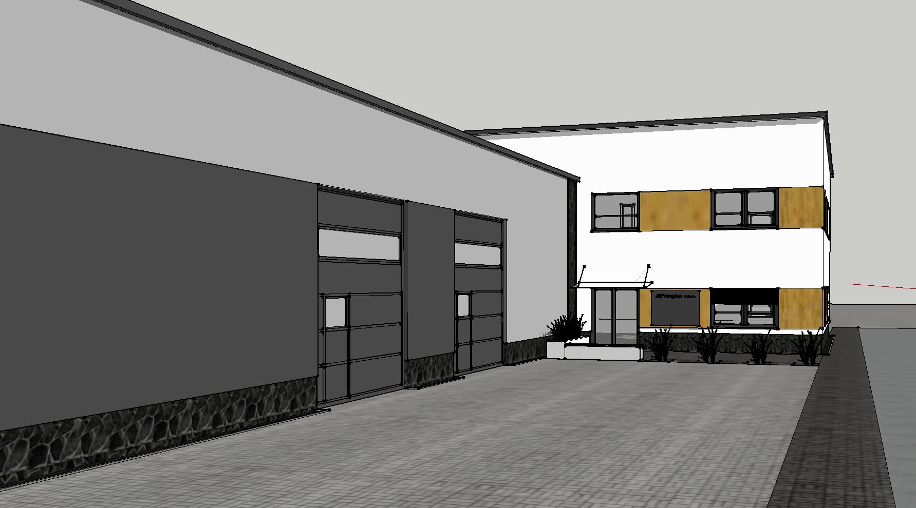 Návrh fasády Blansko