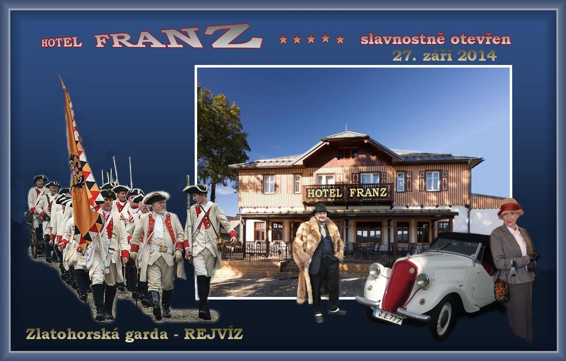 Slavnostní otevření hotelu Franz