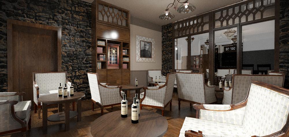 Kuřácký salonek v restauraci Franz, Jeseníky