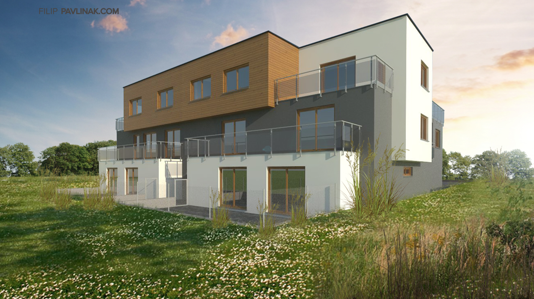 Developerský projekt bytového domu Tábor